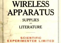 Page de titre, Scientific Experimenter, 1922