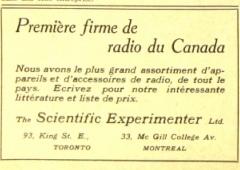 Affichage, the Scientific Experimenter, 1922