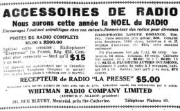 Kits radio à vendre, 1922