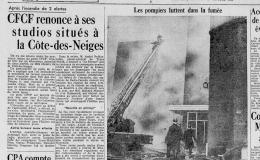 L'incendie de la station CFCF