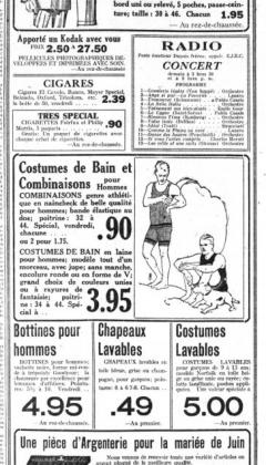 Dupuis Frères et CJBC dans Le Devoir, 1922