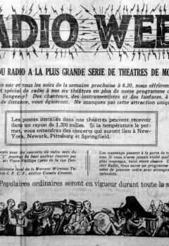 Radio Week, 1922