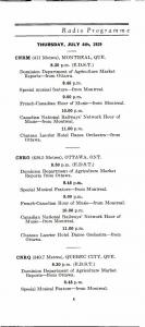 Programme des émissions de radio, CNR-CNRM, 1929