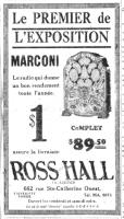Marconi Modèle 26 dans La Presse, 1931