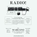Récepteur Marconi Modèle C, premier radio assemblé au Canada (1922)