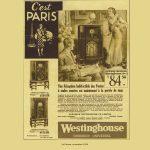 Westinghouse petit annonce 1934